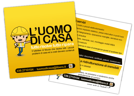 Flyer with all their services & contact