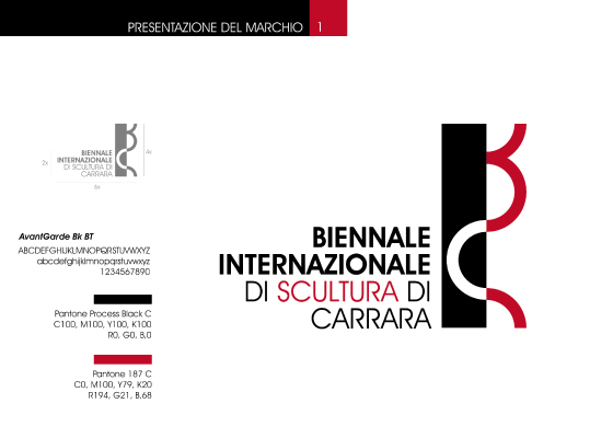 Proposed logo for the Carrara Biennial Sculpture Contest - Italy